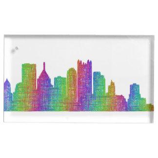 Pittsburgh skyline table card holders