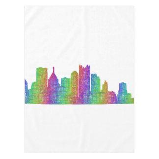 Pittsburgh skyline tablecloth
