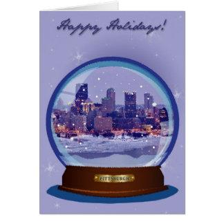 Pittsburgh Snowglobe Holiday Card