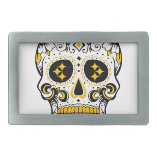 Pittsburgh Sugar Skull Belt Buckles