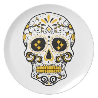 Pittsburgh Sugar Skull Plate