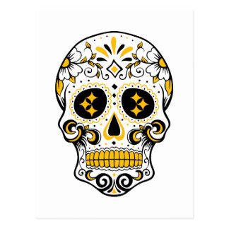 Pittsburgh Sugar Skull Postcard