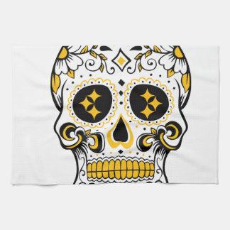 Pittsburgh Sugar Skull Towel
