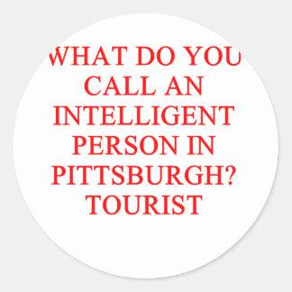 PITTSBURGH tourist Round Sticker