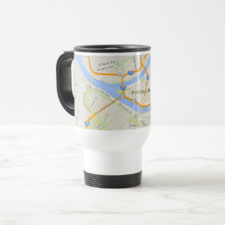 Pittsburgh Travel Mug with Map of the City