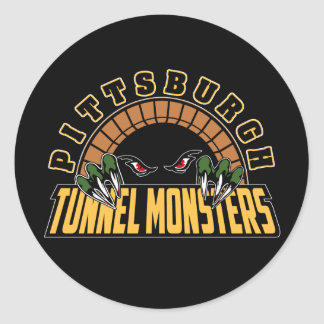Pittsburgh Tunnel Monsters Classic Round Sticker