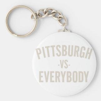 Pittsburgh Vs Everybody Keychain