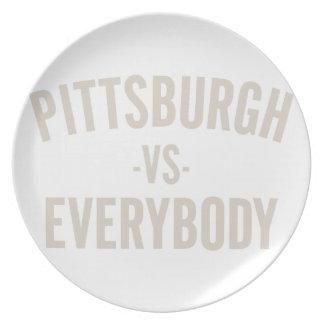 Pittsburgh Vs Everybody Plate