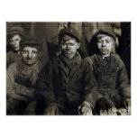 Pittston Breaker Boys  by Lewis Wickes Hine, 1911 Poster