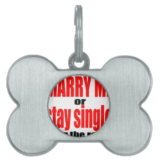 pity pickup proposal marry single couple joke quot pet name tag