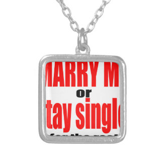pity pitying proposal marry single couple joke quo silver plated necklace