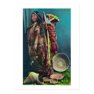 Piuta Native Mother and Child in a Papoose Postcard
