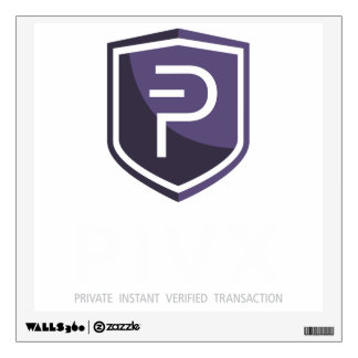 PIVX Square Wall Decal, White Text for Dark Walls Wall Decal