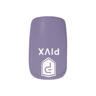 PIVX White Purple Nails Minx Nail Art