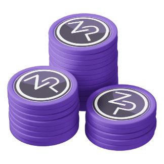 PIVX zPIV Poker Chips, Solid Edge Poker Chips