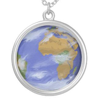 Pix-SOL Earth Round Pendant Necklace