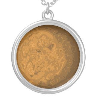 Pix-SOL Mercury Round Pendant Necklace