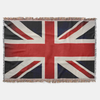 PixDezine Union Jack/Vintage Color Throw Blanket