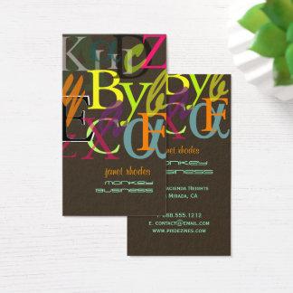 PixDezines ABC, Greek Alpha/DIY background color Business Card