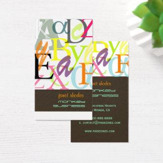 PixDezines ABC, Greek Alpha/diy Business Card