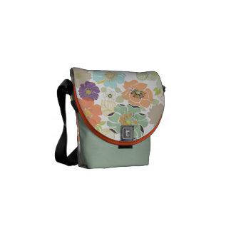 PixDezines alegre retro floral/diy background Messenger Bags