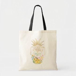 PixDezines Aloha Hawaiian Pineapple Tote Bag