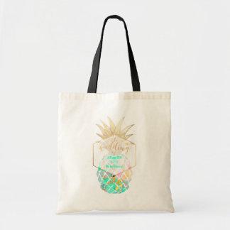 PixDezines Aloha Hawaiian Pineapple/Turquoise