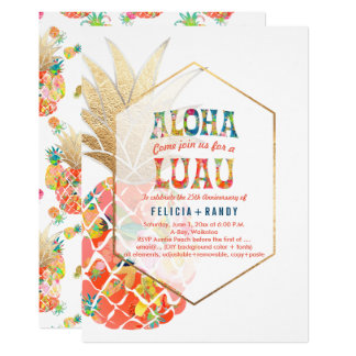 PixDezines Aloha Hawaiian Pineapples/Orange/DIY Card