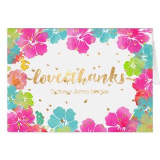 PixDezines Aloha Hibiscus Leis/Thank You Card
