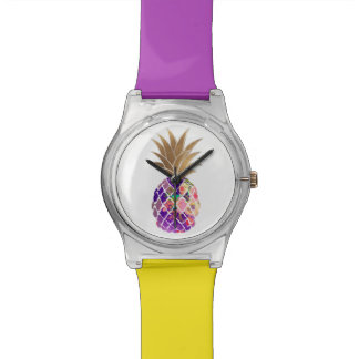 PixDezines Aloha Pineapple/DIY background Watch