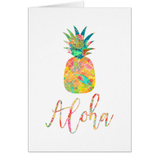 PixDezines Aloha Pineapples/DIY background Card