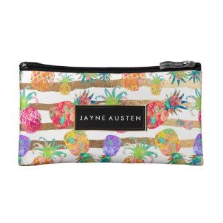 PixDezines Aloha Pineapples/DIY background color Cosmetic Bag