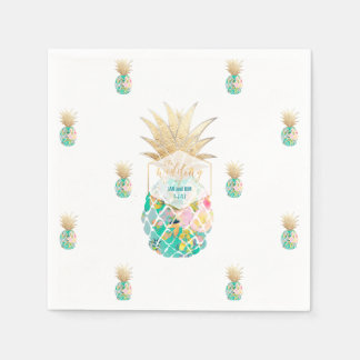 PixDezines Aloha Pineapples/DIY background Paper Napkins
