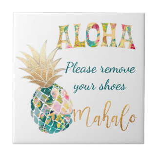 PixDezines Aloha Pineapples/DIY background Tile