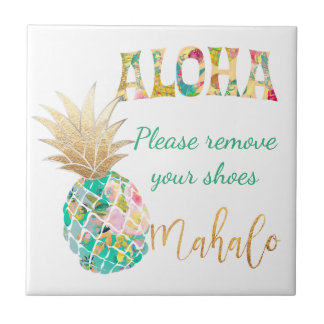 PixDezines Aloha Pineapples/DIY background Tile