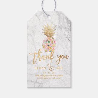 PixDezines Aloha Pineapples/Marble Pack Of Gift Tags