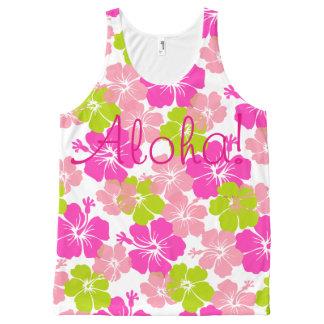 PixDezines aloha retro/hibiscus/pink/lime