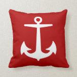 PixDezines anchor/diy background/nautical Throw Pillows