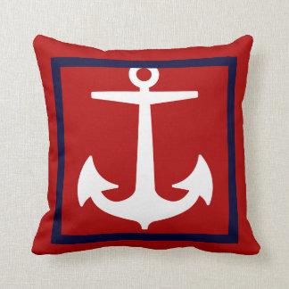 PixDezines anchor/diy background/nautical Throw Pillow