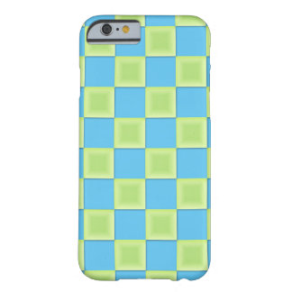 PixDezines Aqua Blue+Green Checkers Barely There iPhone 6 Case