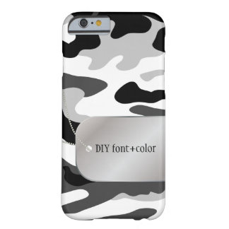 PixDezines Arctic Camo/Dog Tag Barely There iPhone 6 Case