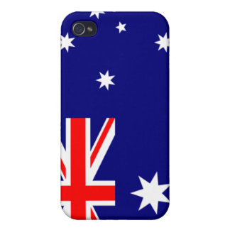 PixDezines Aussie Union Jack iPhone 4/4S Cases