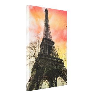 PixDezines autumn paris, eiffel tower Canvas Print