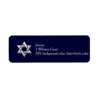 PixDezines Bar Mitzvah Return Add Label/DIYcolor