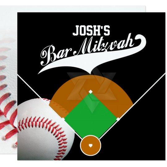 PixDezines ✡ Baseball Diamond/ Bar Mitzvah Card