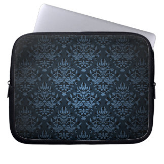 PixDezines Bijoux Damask, slate blue Laptop Sleeve
