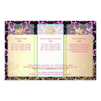 PixDezines black flora damask/diy backgorund color Flyer