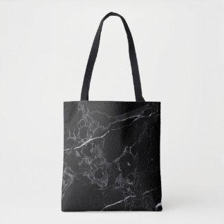 PixDezines BLACK MARBLE Tote Bag