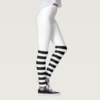 PixDezines Black Stripes/Adjustable/DIY Background Leggings