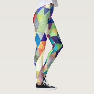 PixDezines Boho Watercolor Geometric/Triangles Leggings